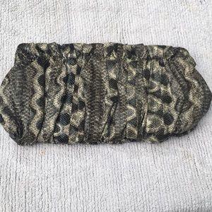Express Snakeskin clutch purse